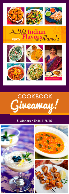 Healthful Indian Flavors with Alamelu - Cookbook Giveaway